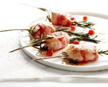Zeeduivel met spek en rozemarijn